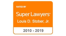 Super Lawyers badge for Louis D. Stober